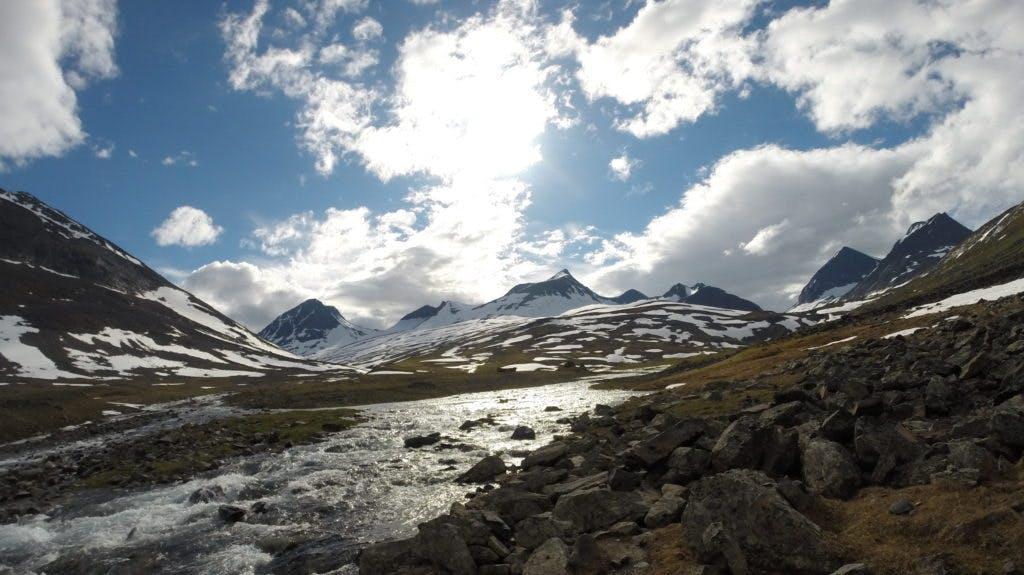 Mäktigt landskap vid Nallostugan.